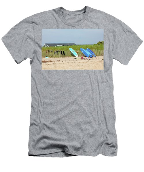 Men's T-Shirt (Slim Fit) featuring the photograph Montauk Beach Stuff by Art Block Collections