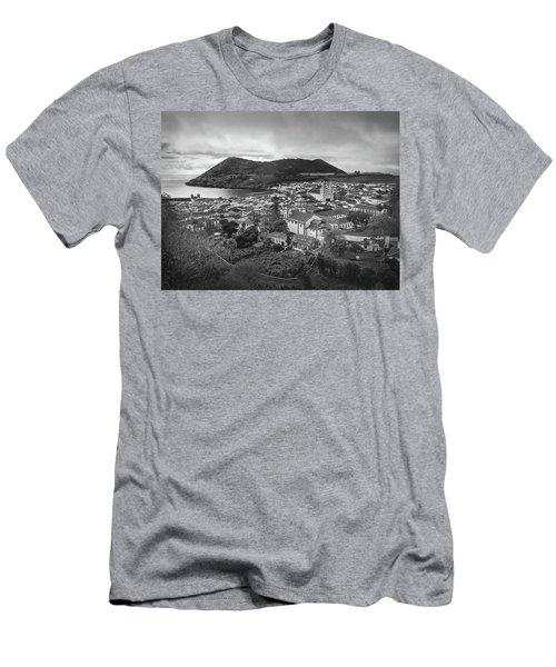 Monte Brasil And Angra Do Heroismo, Terceira Island, Azores Men's T-Shirt (Slim Fit) by Kelly Hazel