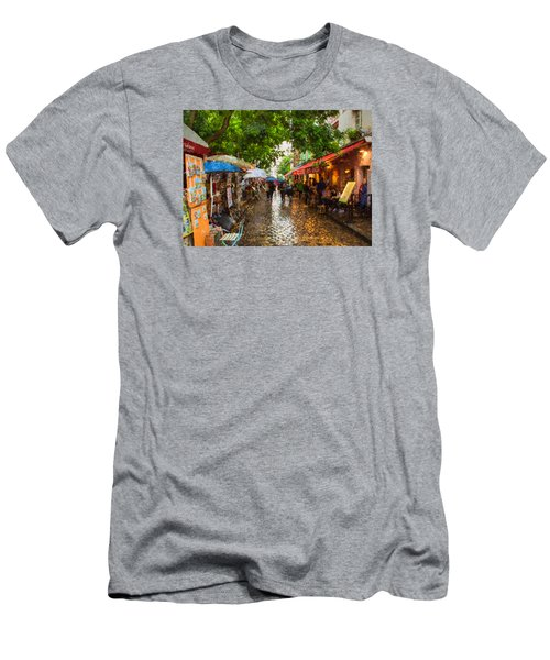 Montmartre Art Market, Paris Men's T-Shirt (Athletic Fit)