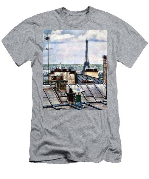 Montmartre Rooftop Men's T-Shirt (Athletic Fit)