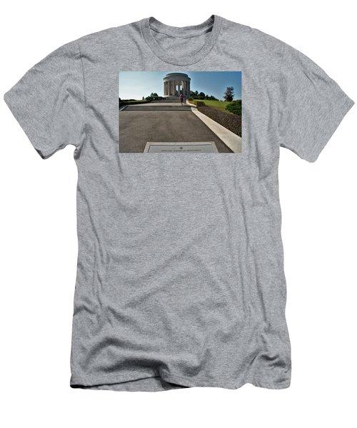 Montsec American Monument Men's T-Shirt (Slim Fit) by Travel Pics