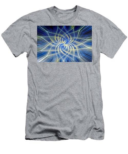 Men's T-Shirt (Slim Fit) featuring the digital art Moody Blue by Carolyn Marshall