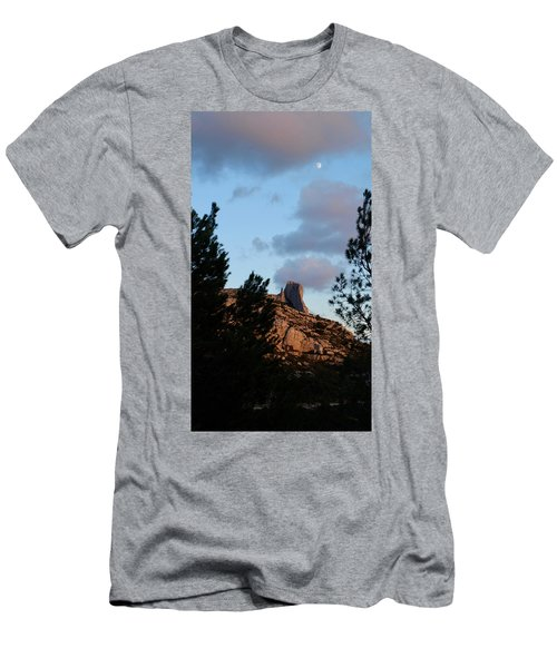 Moon And Rock Men's T-Shirt (Athletic Fit)