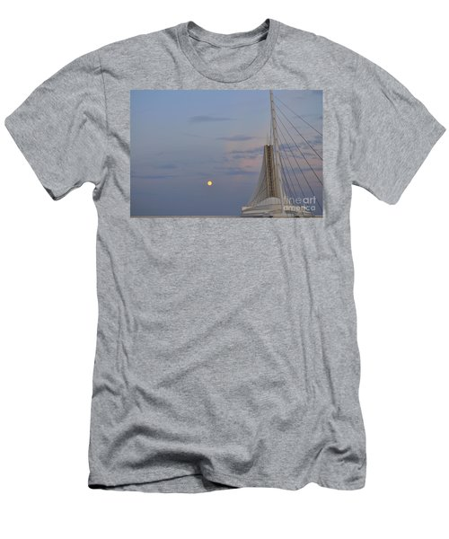 Moon Over Museum Men's T-Shirt (Athletic Fit)