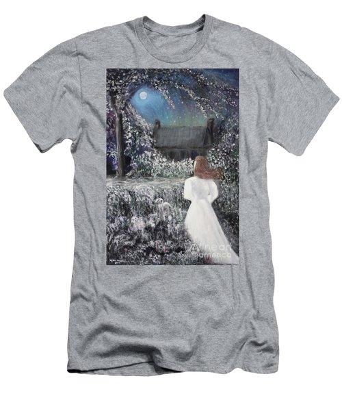 Moonlight Garden Men's T-Shirt (Slim Fit) by Lyric Lucas