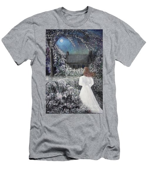 Moonlight Garden Men's T-Shirt (Athletic Fit)