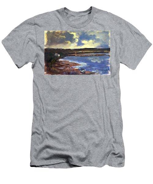 Moonlit Beach Men's T-Shirt (Athletic Fit)