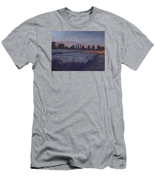 Moonlit Lavender Fields Men's T-Shirt (Slim Fit) by Jane Thorpe