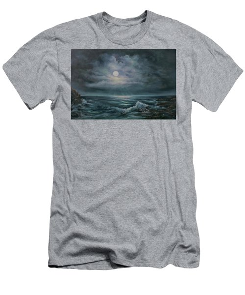 Moonlit Seascape Men's T-Shirt (Athletic Fit)