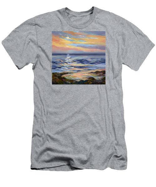 Moonrise At Cabrillo Beach Men's T-Shirt (Slim Fit) by Jane Thorpe