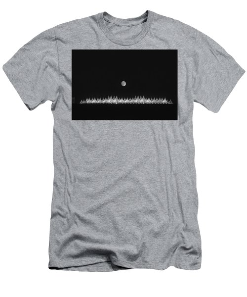 Men's T-Shirt (Slim Fit) featuring the photograph Moonset Over Dia by Kristal Kraft
