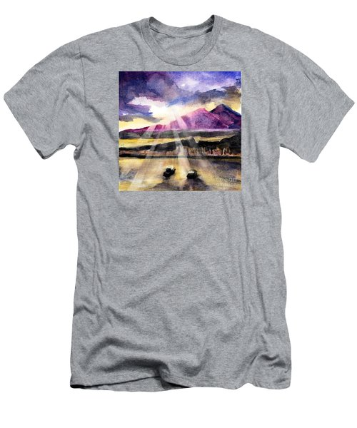 Mooring In Vancouver Tonight Men's T-Shirt (Slim Fit) by Randy Sprout