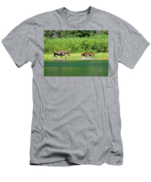 Moose Play Men's T-Shirt (Slim Fit) by Greg Norrell