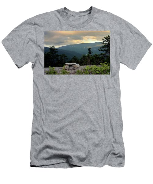Moosilaukee View From Bench On Blueberry Mt. Men's T-Shirt (Athletic Fit)