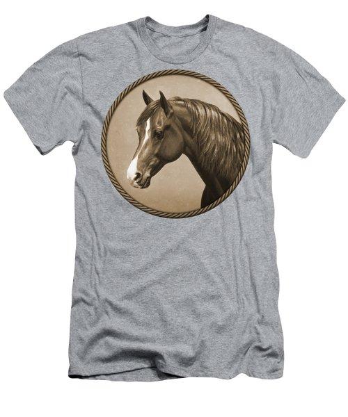 Morgan Horse Phone Case In Sepia Men's T-Shirt (Athletic Fit)