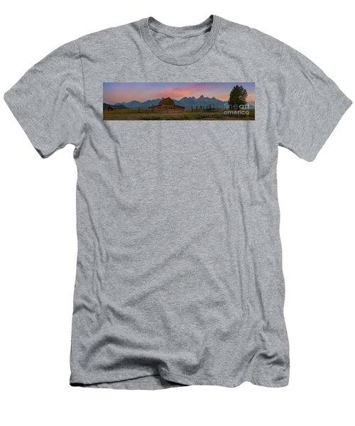 Mormon Row Sunrise Panorama Men's T-Shirt (Athletic Fit)