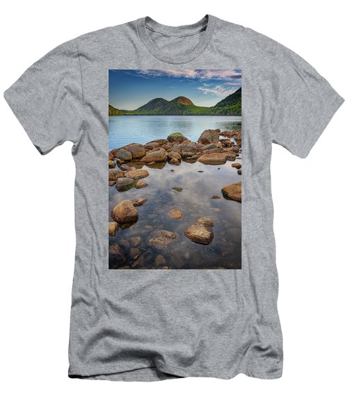 Morning At Jordan Pond Men's T-Shirt (Slim Fit) by Rick Berk
