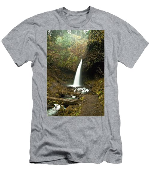 Morning At The Waterfall Men's T-Shirt (Athletic Fit)