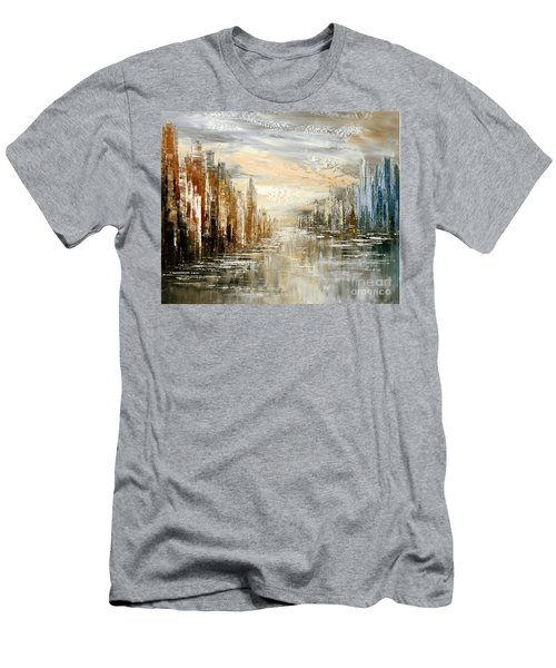 Morning By The Sea Men's T-Shirt (Slim Fit) by Tatiana Iliina