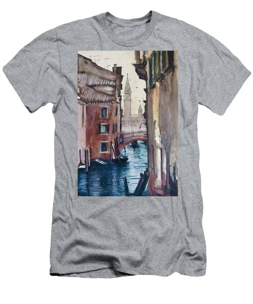 Morning In Venice Men's T-Shirt (Slim Fit) by Geni Gorani
