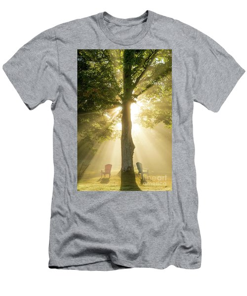 Morning Light Shining Down Men's T-Shirt (Slim Fit) by Alana Ranney