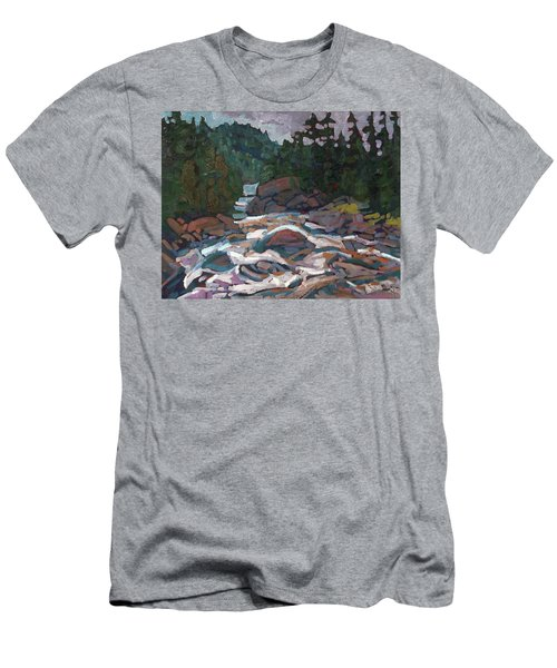 Morning On The Grande Chute Men's T-Shirt (Athletic Fit)