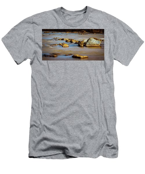 Morning On The Rocky River Men's T-Shirt (Athletic Fit)