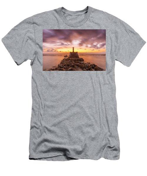 Men's T-Shirt (Athletic Fit) featuring the photograph Morning Scene In Nusa Penida Beach by Pradeep Raja Prints