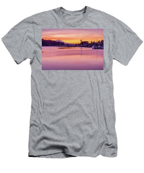 Morning Sunrise In Gig Harbor Men's T-Shirt (Slim Fit) by Ken Stanback