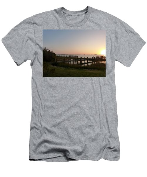 Men's T-Shirt (Slim Fit) featuring the photograph Morning Sunrise Over Assateaque Island by Donald C Morgan