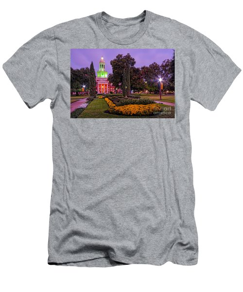 Morning Twilight Shot Of Pat Neff Hall From Founders Mall At Baylor University - Waco Central Texas Men's T-Shirt (Athletic Fit)