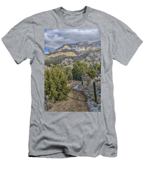 Men's T-Shirt (Slim Fit) featuring the photograph Morning Walk by Alan Toepfer