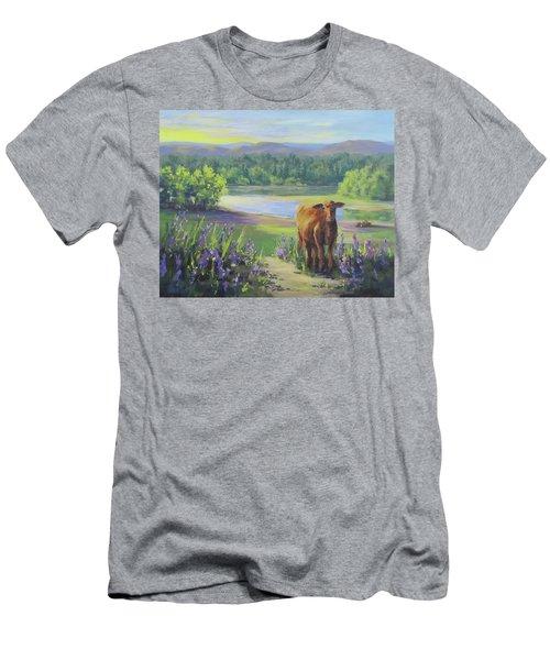 Men's T-Shirt (Slim Fit) featuring the painting Morning Walk by Karen Ilari