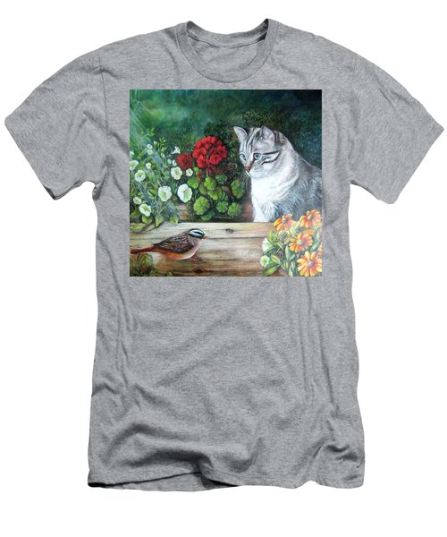 Morningsurprise Men's T-Shirt (Slim Fit) by Patricia Schneider Mitchell
