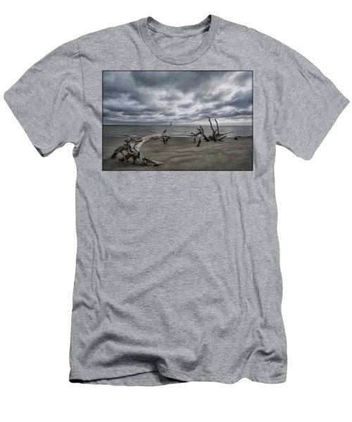 Morris Island Lighthouse Men's T-Shirt (Athletic Fit)