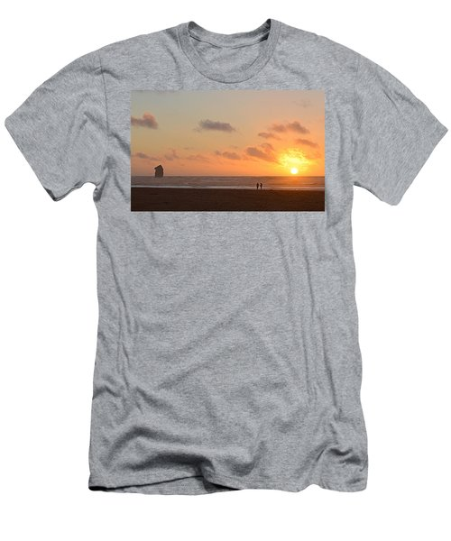 Men's T-Shirt (Slim Fit) featuring the photograph Morro Sunset by AJ Schibig