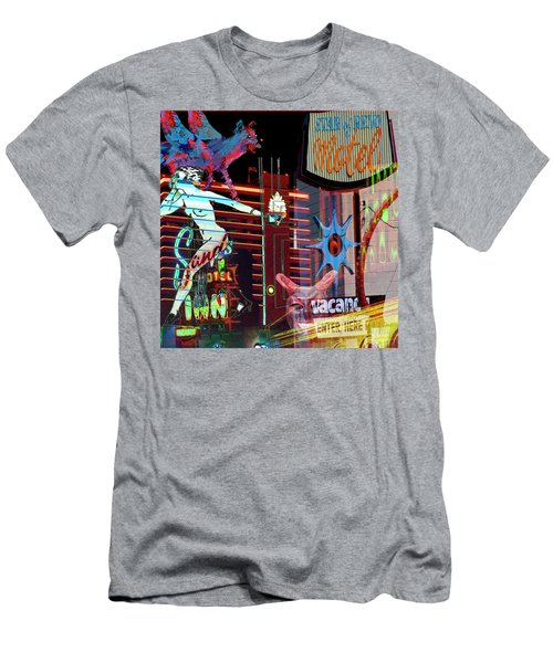 Motel Variations Night Of The Flyng Coyote Men's T-Shirt (Athletic Fit)