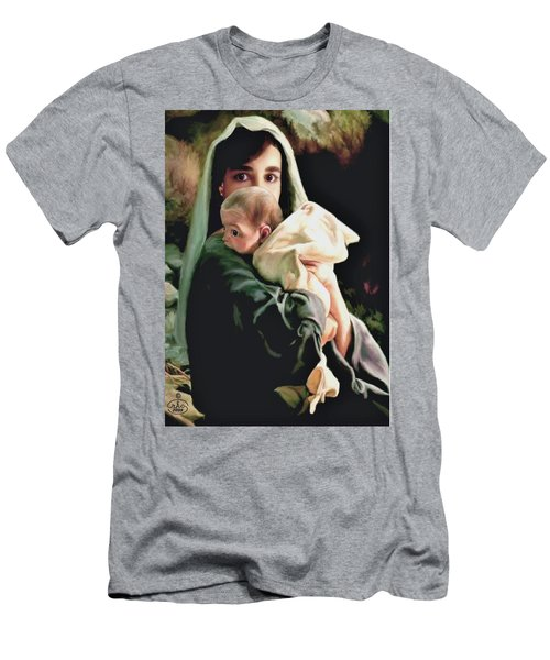 Mother And Child Men's T-Shirt (Slim Fit) by Ron Chambers