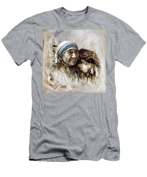 Men's T-Shirt (Slim Fit) featuring the painting Mother Teresa  by Gull G