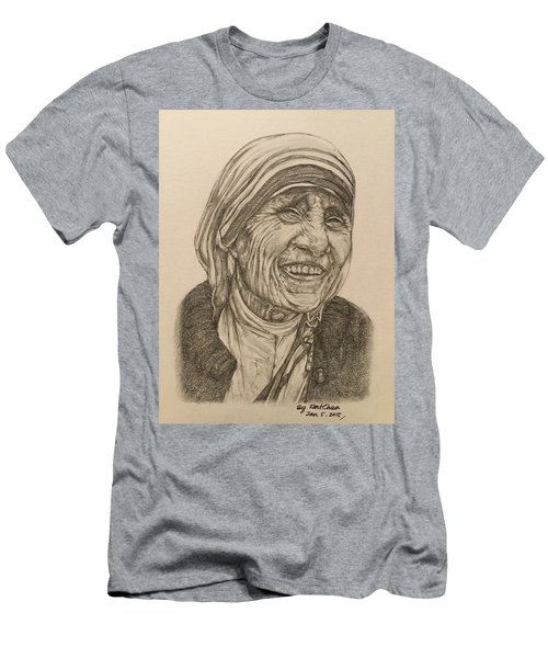 Mother Theresa Kindness Men's T-Shirt (Slim Fit) by Kent Chua