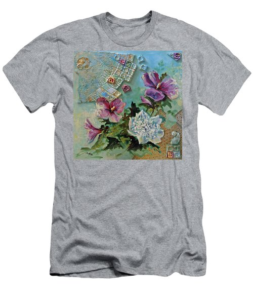 Men's T-Shirt (Slim Fit) featuring the painting Mothers Althea by Suzanne McKee