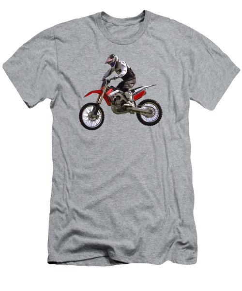 Men's T-Shirt (Slim Fit) featuring the digital art Motocross by Scott Carruthers