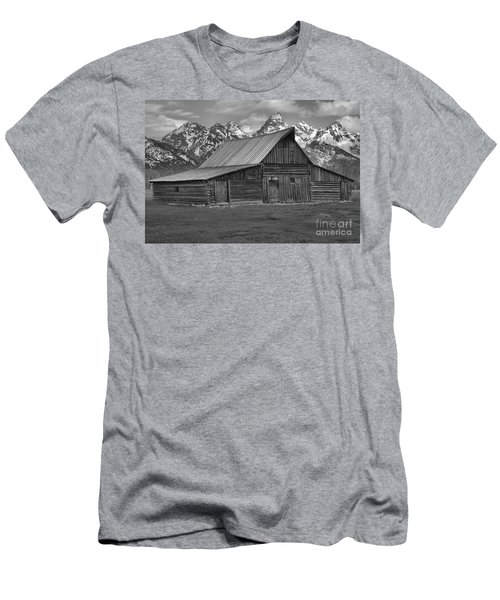 Moulton Barn Springtime Black And White Men's T-Shirt (Slim Fit) by Adam Jewell