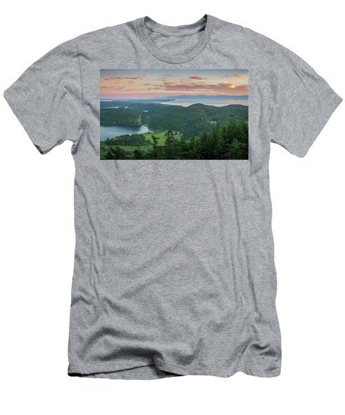Mount Erie Viewpoint Men's T-Shirt (Slim Fit) by Ken Stanback
