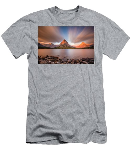 Mount Grinnell Sunrise Men's T-Shirt (Athletic Fit)