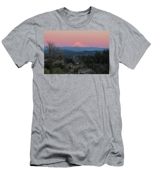Mount Hood Over Happy Valley Oregon Men's T-Shirt (Athletic Fit)
