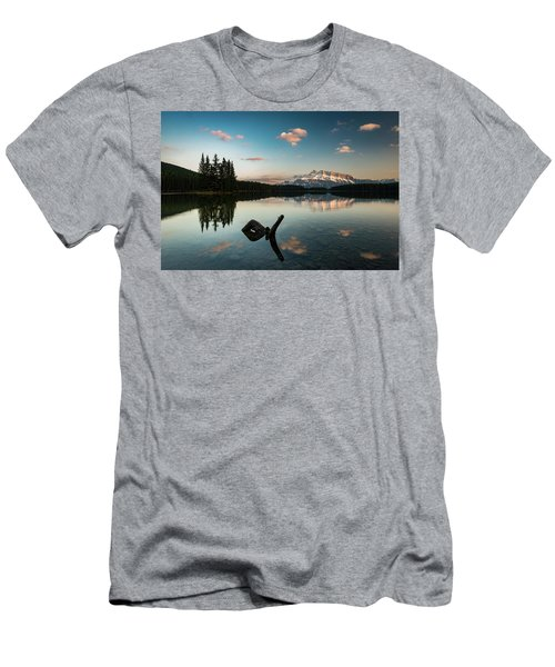 Mount Rundle And Two Jack Lake Men's T-Shirt (Athletic Fit)