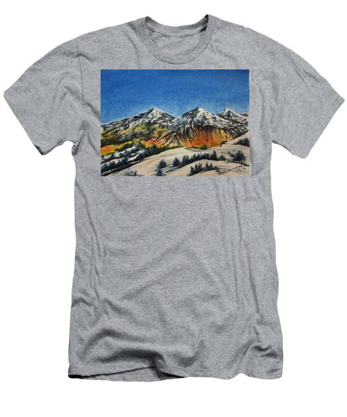Mountain-5 Men's T-Shirt (Athletic Fit)