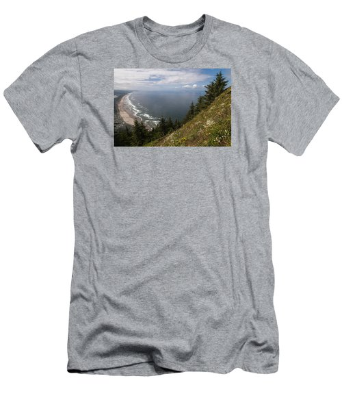 Mountain And Beach Men's T-Shirt (Athletic Fit)