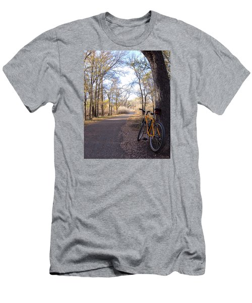 Mountain Bike Trail Men's T-Shirt (Athletic Fit)